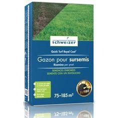 Semence Gazon enrobé-Quick turf Coat  75-185m2  1.875 kg Personal Care, Coat, Lawn, Self Care, Sewing Coat, Personal Hygiene, Peacoats, Coats, Jacket