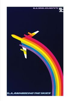'Rainboeing ELAL' from '50 Great Flight Posters' by Norman Clark, on www.amazon.com and Kindle