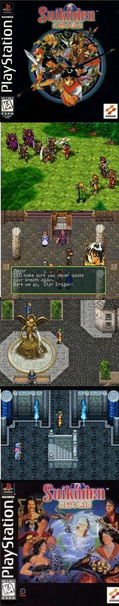 Suikoden is a great random battle RPG and a PlayStation exclusive title! Classic Rpg, Suikoden, Gamer News, Neo Geo, Sega Dreamcast, Classic Video Games, Retro Gamer, We Are Young, Inspiring Art