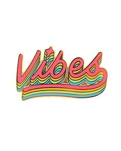 Spread the good vibes wherever you go with these rainbow feels. Sure to keep the haters at bay. - Hard Enamel Lapel Pin - Part of Our Vibes Collection Happy Vibes, Pin And Patches, Good Vibes Only, Good Vibes Art, Mellow Yellow, Belle Photo, Word Art, Artsy, Positivity