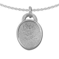 Sterling Silver fingerprint pendant.