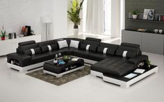 Connie Sectional Sofa   Leather Living Room Furniture   Fancy Furniture    Leather Sectional Sofa |