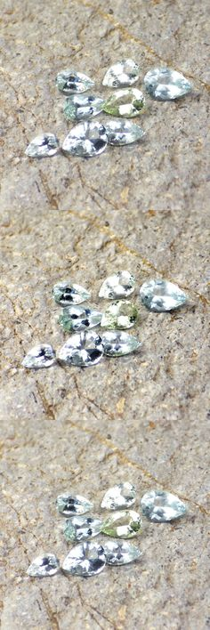 Beryl 110789: Beryl Var. Aquamarine+Golden Beryl+Goshenite-Mozambique 3.30Ct 8 Pcs-Ring Sizes -> BUY IT NOW ONLY: $47 on eBay!