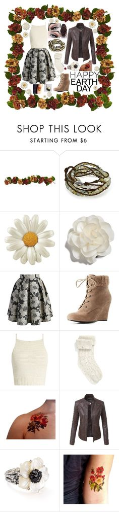 """""""Happy Earth Day"""" by emily102901 ❤ liked on Polyvore featuring Bling Jewelry, Cara, Chicwish, Charlotte Russe, SHE MADE ME, UGG, LE3NO and Stephen Dweck"""