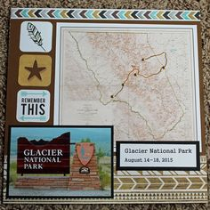 Glacier National Park Cover Page - Scrapbook.com