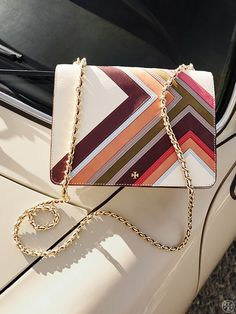 Tory Burch Robinson Multi-Stripe Convertible Shoulder Bag