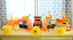 Construction Theme Birthday for a Two Year Old Boy! Lots of adorable details!