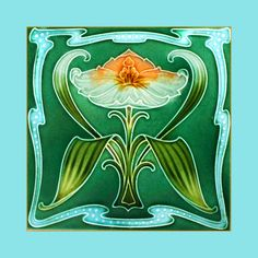 "34 Original Art Nouveau tile by Rhodes (1907). Courtesy of Robert Smith from his book ""Art Nouveau Tiles with Style""."