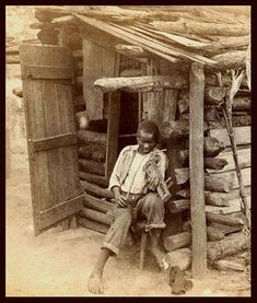 Slave cabin -SLAVES, EX-SLAVES, and CHILDREN OF SLAVES IN THE AMERICAN SOUTH, 1860 -1900