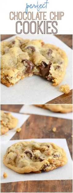 Recipe for perfect Chocolate Chip Cookies- soft, chewy, crisp, and buttery!: