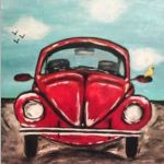Car Painting, Painting & Drawing, Watercolor Paintings, Copic Drawings, Easy Drawings, Simple Canvas Paintings, Canvas Art, Hand Art, Whimsical Art