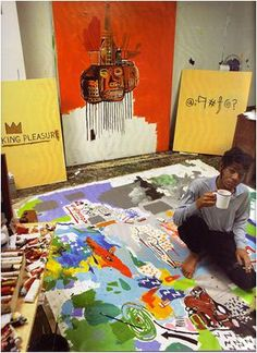 basquiat in studio