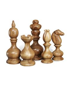 "Can you imagine how these would look in a gentlemen's office??  G  ""Bernard"" Chess Pieces at Horchow."
