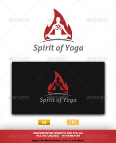 Spirit of Yoga Logo — Vector EPS #care #logo • Available here → https://graphicriver.net/item/spirit-of-yoga-logo/7647792?ref=pxcr