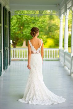 I love the back! And the lace