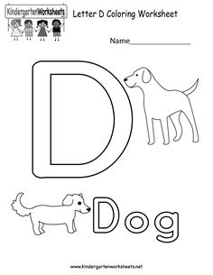 Letter D Coloring Worksheet For Kids In Preschool Or Kindergarten This Is A Fun Way