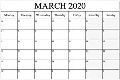 Free Monthly 2020 March Calendar Printable Editable Template Blank in PDF Word Excel Page, Notes, Landscape, Portrait, March 2020 Calendar Printable Calendar March Calendar Printable, Free Printable Calendar Templates, Excel Calendar Template, January Calendar, Calendar 2020, Monthly Calendars, Free Calendar, Templates Free, Aussies