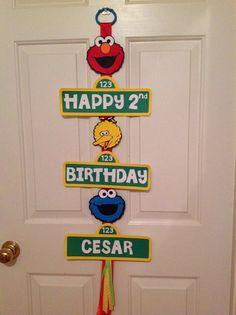 Sesame Street Birthday Sign by PartiesbyMel on Etsy