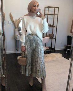 Modest Fashion Hijab, Modern Hijab Fashion, Muslim Women Fashion, Modesty Fashion, Hijab Fashion Inspiration, Fashion Mode, Skirt Fashion, Fashion Outfits, Cute Skirt Outfits