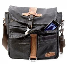 Upcycled Messenger Bags... the perfect gadget bag?