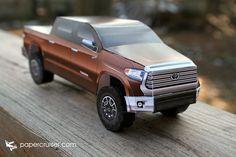 2014 Toyota Tundra paper model | papercruiser.com