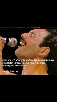And no one will ever be this gorgeous- or sound as wonderful! And no one will ever be this gorgeous- or sound as wonderful! Freddie Mercury Zitate, Freddie Mercury Quotes, Great Quotes, Me Quotes, Motivational Quotes, Inspirational Quotes, Piglet Quotes, Happy Quotes, Queen Quotes