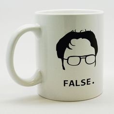 "The Office - Dwight Schrute ""FALSE"" Ceramic Coffee Mug Coffee Tea Hot Cocoa"