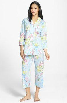 Lauren Ralph Lauren Cotton Lawn Capri Pajamas available at #Nordstrom