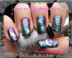 By #Nailartstampingmania  #bundlemonster & #shopbm  - Base: Ludurana - Aurora Boreal Show - Stamping plate: Cheeky Jumbo 6 (Happy Holidays) - BM-H07, BM-13 and Moyou Salon Pro 3 - Stamped with: Kiko Mirror 616