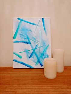 Handmade Abstract Line Painting by ChloeLouiseCreates on Etsy