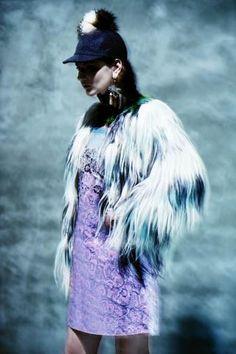 In the Dark by Kenneth Wong Baccarat Magazine December 2014 -Miu Miu dress