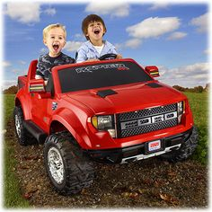 Power Wheels® Ford F-150 SVT Raptor (Red) - Shop Power Wheels Ride On Cars & Trucks | Fisher-Price