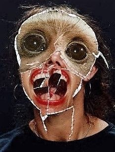 Image result for mixed media face mask