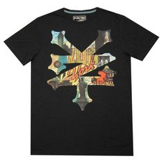 Zoo York Wish U Where Here tee-shirt washed black