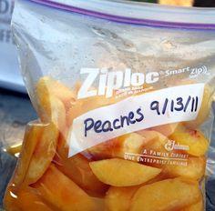freezing fresh peaches