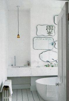 Many mirrors bathroom