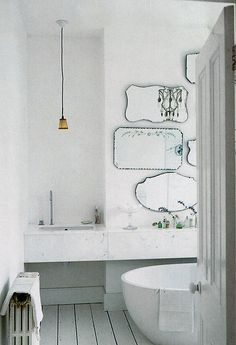 My favourite bathroom.I love these mirrors on wall instead of the norm