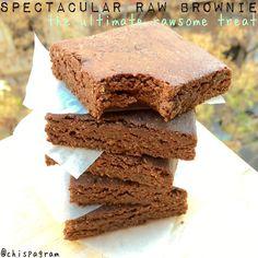 Raw Brownies made with Chocolate Ka'Chava by @chispagram