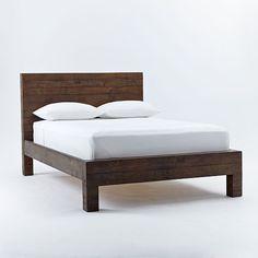 Emmerson Reclaimed Wood Bed - Chestnut | West Elm