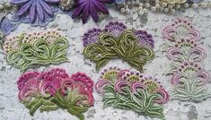 Flower Lace Applique Hand Dyed Venise Crazy by RavioleeDreams, $3.25