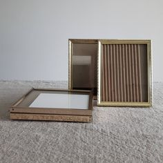 """4"""" x 5"""" assorted brass / gold-tone metal picture frames // 10 x 12.7 cm - wedding reception table or bridal shower decor, cottage, farmhouse by BlueChickenVintage on Etsy"""