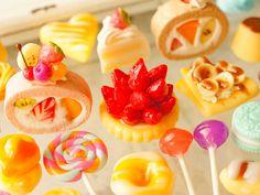 Miniature Food(M404),Air Dry Clay,Lollipop Candy,Kawaii Sweet Deco,Food Cabohon…