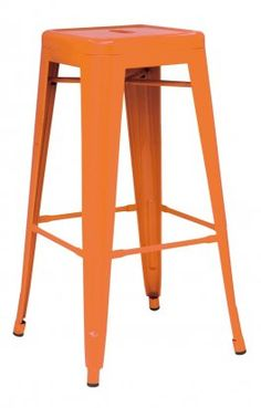 """30""""H Orange Cafe Style Backless Breakroom Bar Stool 
