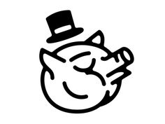 Did a logo for my best friend's BBQ team, appropriately named Elitist Swine and they turned their nose up to this smug pig.