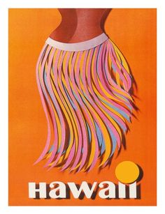 Hawaii Digital Art - Hawaii Hula Skirt Vintage World Travel Poster by Retro Graphics Retro Poster, Poster Vintage, Vintage Travel Posters, Vintage Art, Vintage Airline, Hawaiian Art, Vintage Hawaiian, Hawaiian Tropic, Hawaii Hula