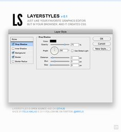 [ css tool ] LAYERSTYLES v 0.1  Just like your favorite graphics editor, but in your browser. And it creates CSS!