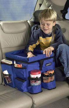kids travel bin for the car @Courtenay Jauregui, @Patricia Merino-Collins