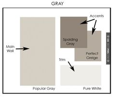 Paint Color Palettes Gray Color Palette with Sherwin Williams paint by A.Clore Interiors – http://www.acloreinterio… | Decopins.com – Home decoration pictures and home decor photo galleries!