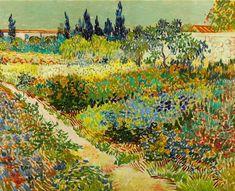 MU_VG2051 t_Van Gogh _ Garden at Arles / Cuadro Arte Famoso, Jardin en Arles
