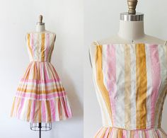 1950s Pastel Sun Dress // XSSM by strawberrykoi on Etsy, $235.00